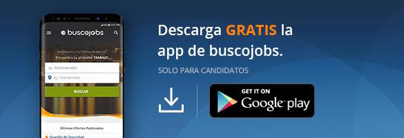 Descarga la app de Buscojobs.